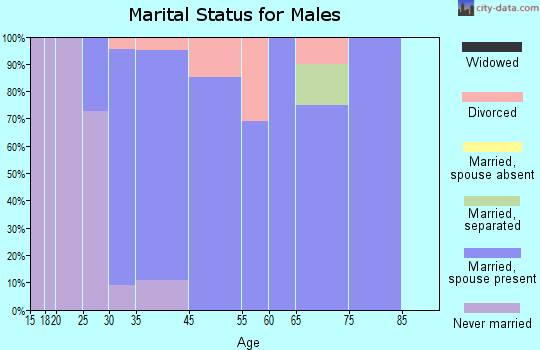Swisher marital status for males