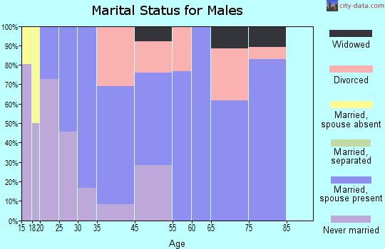 Cornville marital status for males