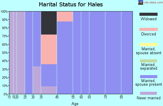 Corona de Tucson marital status for males