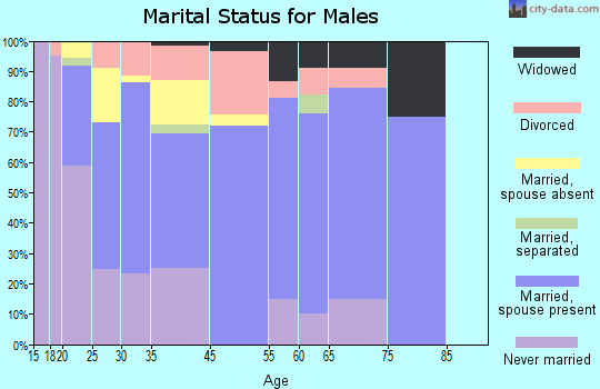 El Mirage marital status for males