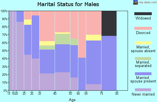 Elmwood marital status for males