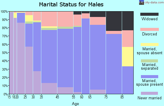 Terrytown marital status for males