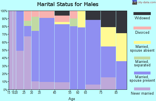 Williamsport marital status for males