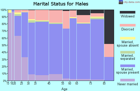 Prescott Valley marital status for males