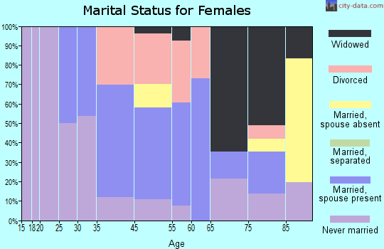 Vineyard Haven marital status for females