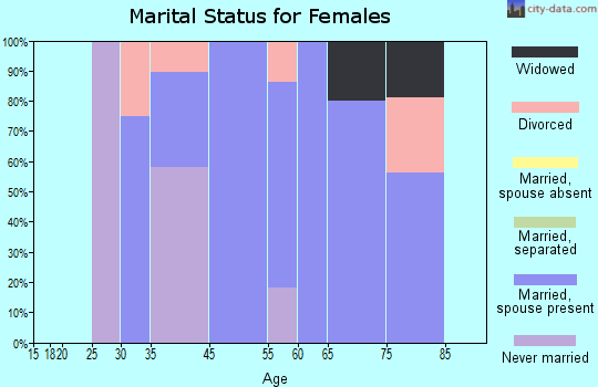 Harvey Cedars marital status for females