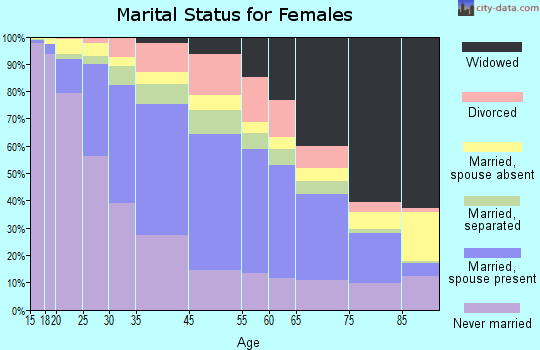 Jersey City marital status for females