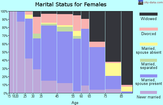 Amityville marital status for females