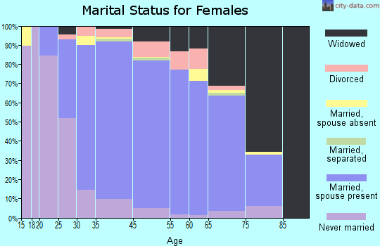Baldwin Harbor marital status for females