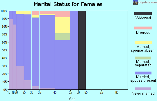 Fort Drum marital status for females
