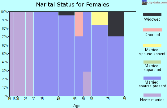 Hewlett Neck marital status for females