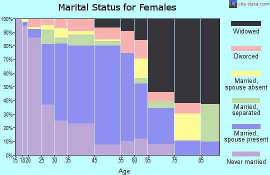North Bellport marital status for females