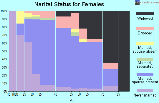 Port Jefferson Station marital status for females