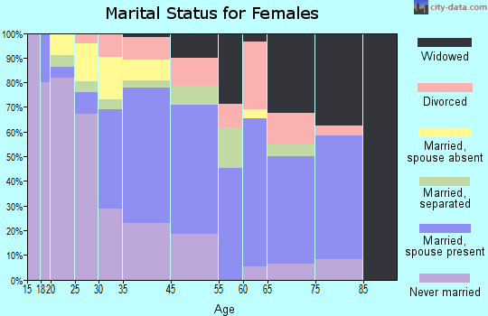 South Floral Park marital status for females