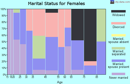Brookford marital status for females
