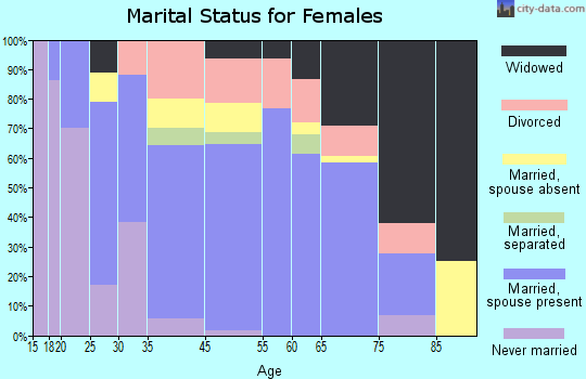 Surf City marital status for females