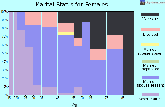 Brimfield marital status for females