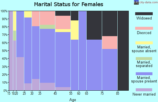Hamilton City marital status for females