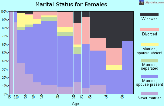 King City marital status for females