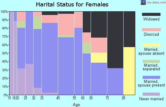 Denver City marital status for females