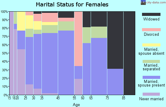 Homestead Meadows South marital status for females