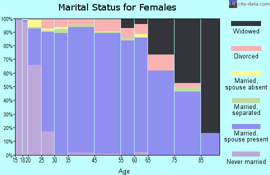 South Jordan marital status for females