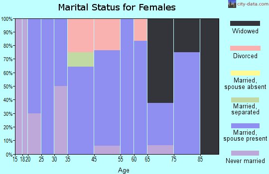 Boones Mill marital status for females