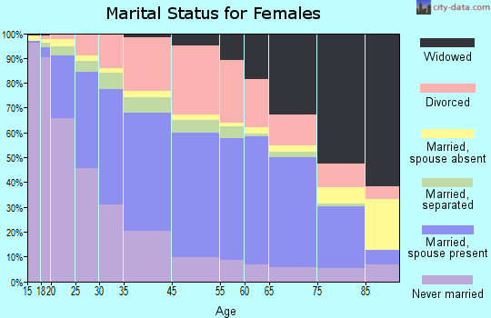 Roanoke marital status for females