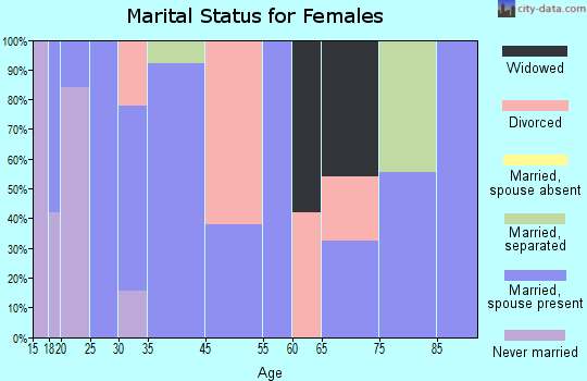 San Miguel marital status for females