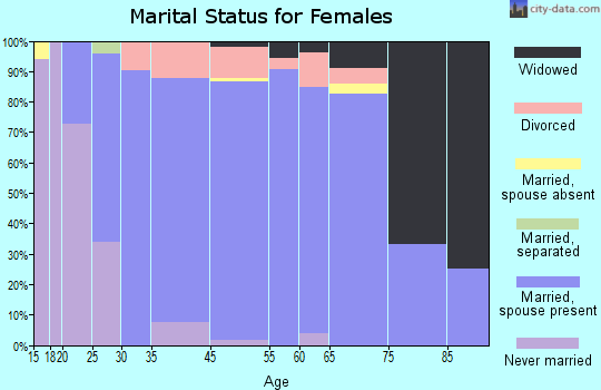 Rib Mountain marital status for females