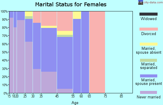 Mountain Village marital status for females