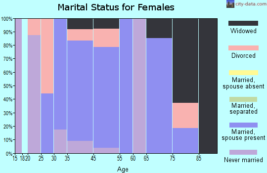 Higganum marital status for females