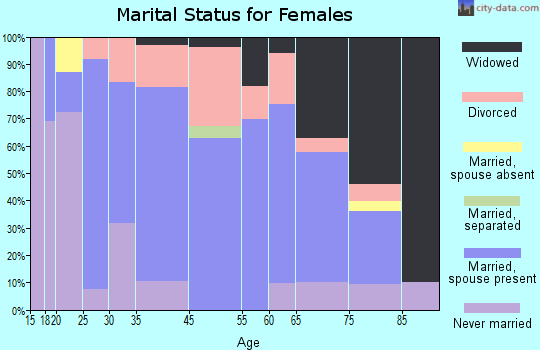 Johnston City marital status for females