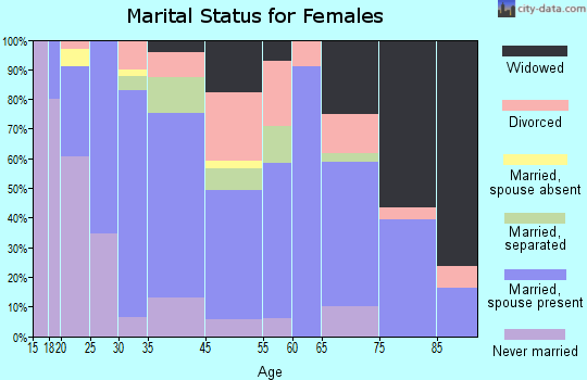 South Chicago Heights marital status for females
