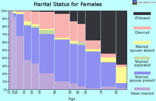 Michigan City marital status for females