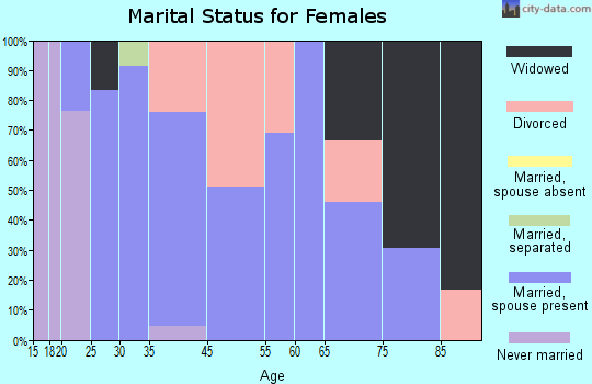 North Salem marital status for females