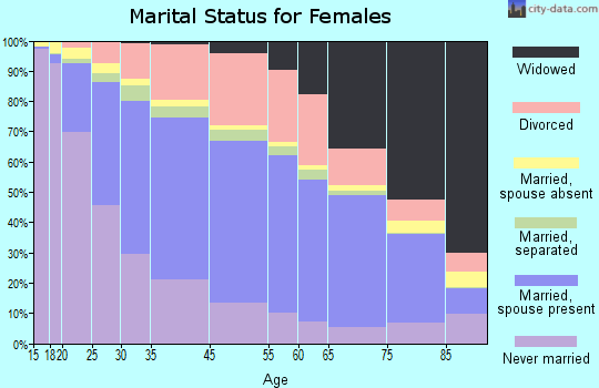 South Bend marital status for females