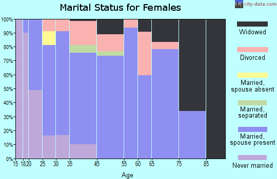 South Haven marital status for females