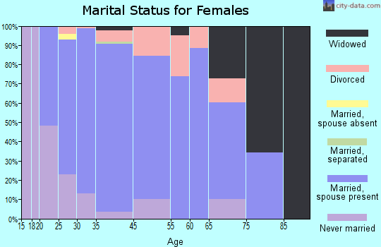 Bel Aire marital status for females