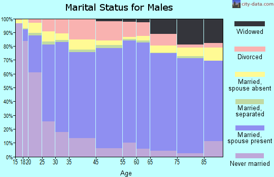 Malheur County marital status for males