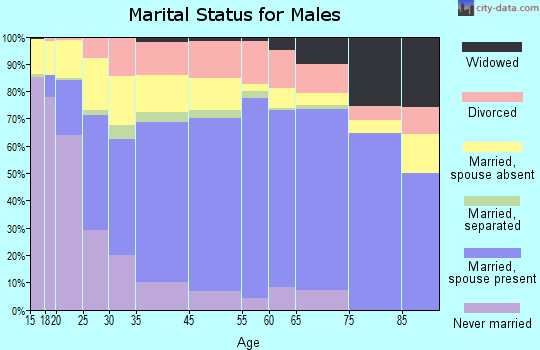 Greenville County marital status for males