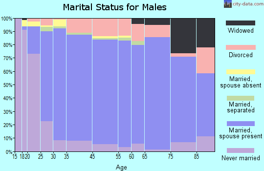 Gilpin County marital status for males