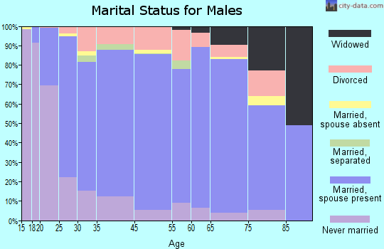 Elk County marital status for males