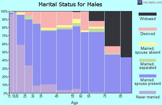 Fall River County marital status for males
