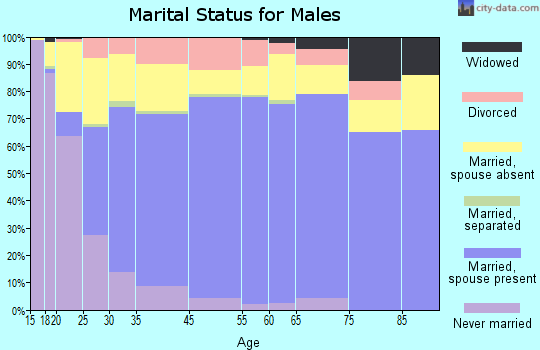 Deuel County marital status for males