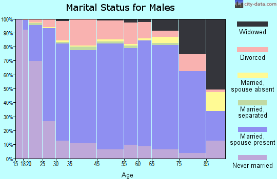 Hampton County marital status for males