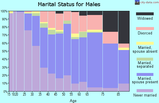 Ellis County marital status for males