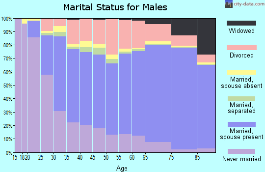 Yavapai County marital status for males