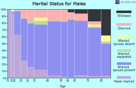 Bristol County marital status for males