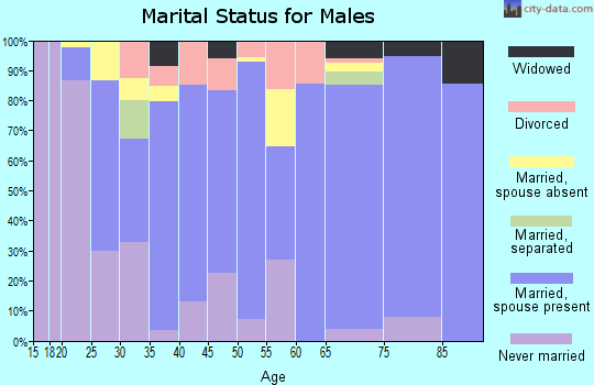 Giles County marital status for males